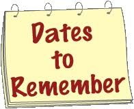 2019-20 Dates to Remember – Candalaria Elementary School